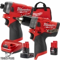 "Milwaukee 2598-22 M12 FUEL 1/2"" Hammer Drill + 1/4"" Hex Impact"