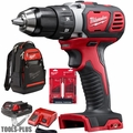 "Milwaukee 2606-21BP M18 Compact 1/2"" Drill Driver Kit w/Bit Set and Backpack"