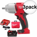 Milwaukee 2662-21 M18 1/2'' High-Torque Impact Wrench with Pin Detent Kit 3x