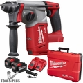 "Milwaukee 2712-22HD M18 FUEL 1"" SDS Plus Rotary Hammer 2x 9.0 Batts"