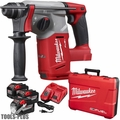 "Milwaukee 2712-22HD M18 FUEL 1"" SDS Plus Rotary Hammer 3x 9.0 Batts"