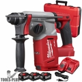 "Milwaukee 2712-22HD M18 FUEL 1"" SDS Plus Rotary Hammer 3x 9.0 Batts Kit"