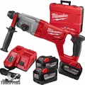 "Milwaukee 2713-22HD M18 Fuel 1"" SDS+ D-Handle Rotary Hammer 3x 9.0 Batts"