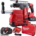 "Milwaukee 2715-22DE M18 FUEL 1-1/8"" SDS Plus Rotary Hammer + Dust Extractor"