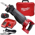 Milwaukee 2720-21 18V M18 FUEL SAWZALL Kit w/ 5.0 Batt,Charger,Case M18 Saw
