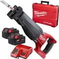Milwaukee 2720-22 M18 FUEL 2-Batt Cordless Sawzall Recip Saw Kit