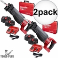 Milwaukee 2720-22 M18 FUEL 2-Batt Cordless Sawzall Recip Saw Kit 2x