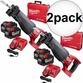 Milwaukee 2720-22HD M18 Fuel Sawzall Reciprocating Saw Kit 2x 9.0 Batts 2x