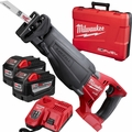Milwaukee 2720-22HD M18 Fuel Sawzall Reciprocating Saw Kit 2x 9.0 Batts