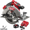 "Milwaukee 2731-20P M18 FUEL 7-1/4"" Circular Saw 2731-20 w/ 9.0 Starter Kit"