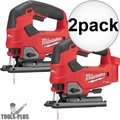 Milwaukee 2737-20 M18 FUEL Cordless D-Handle Jig Saw (Tool Only) 2x