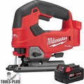 Milwaukee 2737-20 M18 FUEL D-Handle Jig Saw (Tool Only) + 5.0 Ah Battery