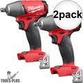 """Milwaukee 2755B-20 1/2"""" Impact Wrench with Friction Ring (Tool Only) 2x"""