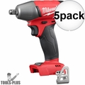 """Milwaukee 2755B-20 1/2"""" Impact Wrench with Friction Ring (Tool Only) 5x"""