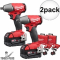 "Milwaukee 2755B-22 M18 FUEL 1/2"" Impact Wrench Friction Ring Kit 2x"