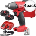 "Milwaukee 2755B-22 M18 FUEL 1/2"" Impact Wrench Friction Ring Kit 4x"