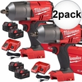 "Milwaukee 2767-22 M18 FUEL 1/2"" Impact w/ Fric Ring + 2 5AH Batt 2x"