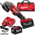"Milwaukee 2780-22HD M18 Fuel 4-1/2""/5"" Grinder Paddle No-Lock 2x 9.0 Batts"