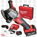 "Milwaukee 2783-22 M18 FUEL 4-1/2"" / 5"" Braking Grinder Kit 2x XC5 Amps Batt"