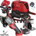 "Milwaukee 2783-22HD M18 Fuel 4-1/2""/5"" Braking Grinder w/HEPA Dust Extractor"