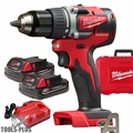 """Milwaukee 2801-22CT M18 Compact Brushless 1/2"""" Drill Driver w/2 2ah Battery"""