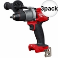 "Milwaukee 2804-20 M18 FUEL 1/2"" Hammer Drill/Driver (Tool Only) 3x"