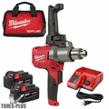Milwaukee 2810-22 M18 FUEL Mud Mixer with 180 Deg. Handle Kit