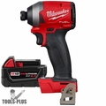 """Milwaukee 2853-20 M18 FUEL 1/4"""" Hex Impact Driver + M18 5.0 Ah Battery"""