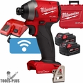"Milwaukee 2857-22 M18 FUEL 1/4"" Hex Impact Driver w/ ONE-KEY + 2 5.0ah Batts"