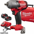"Milwaukee 2860-22 M18 FUEL 1/2"" Mid-Torque Impact w/Pin Detent 5.0 Kit"