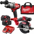 Milwaukee 2898-22 M18 FUEL Li-Ion Hammer Drill/Circ Saw Kit w/(2) 5.0Ah Bats