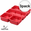 Milwaukee 31-01-0502 3x 5 PC Bin Set for Low Profile PACKOUT Organizer