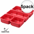 Milwaukee 31-01-0502 5x 5 PC Bin Set for Low Profile PACKOUT Organizer