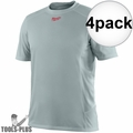 Milwaukee 410G-3X Gray WorkSkin Lightweight Performance Shirt 3x-Large 4x