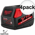 Milwaukee 48-11-1830 V18 Lithium-Ion Battery Pack 4x