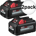 Milwaukee 48-11-1862 2pk M18 REDLITHIUM HIGH OUTPUT XC6.0 Battery Pack
