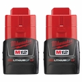 Milwaukee 48-11-2411 M12 REDLITHIUM Compact Battery 2-Pack