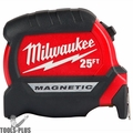 Milwaukee 48-22-0125 Compact Magnetic Tape Measure 25'