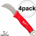 Milwaukee 48-22-1923 Lineman Blunt Tip Hawkbill Knife STICKWORK 3in1 Ring 4x