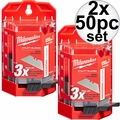 Milwaukee 48-22-1950 50 PC General Purpose Utility Blades w/ Dispenser 2x