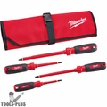 Milwaukee 48-22-2204 4pc 1000V Insulated Screwdriver Set w/ Roll Pouch