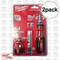 Milwaukee 48-22-2302P 10-in-1 Ratchet Driver w/ 8-in-1 Compact Driver 2x
