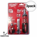 Milwaukee 48-22-2302P 10-in-1 Ratchet Driver w/ 8-in-1 Compact Driver 3x