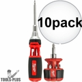 Milwaukee 48-22-2302P 10-in-1 Ratchet Multi Driver w/8in1 Compact Driver 10x