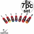 Milwaukee 48-22-2507 8x 7pc Magnetic HollowCore SAE Nut Driver Set