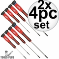 Milwaukee 48-22-2604 4pc Precision Screwdriver Set 2x