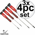 Milwaukee 48-22-2604 4pc Precision Screwdriver Set 3x