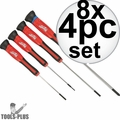 Milwaukee 48-22-2604 4pc Precision Screwdriver Set 8x