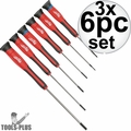 Milwaukee 48-22-2606 6pc Precision Screwdriver Set w/Case 3x