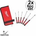 Milwaukee 48-22-2610 6pk TORX Precision Screwdriver Set w/ Case 2x